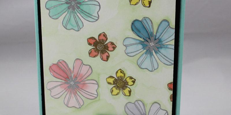 Photo de la carte aquarelle florale