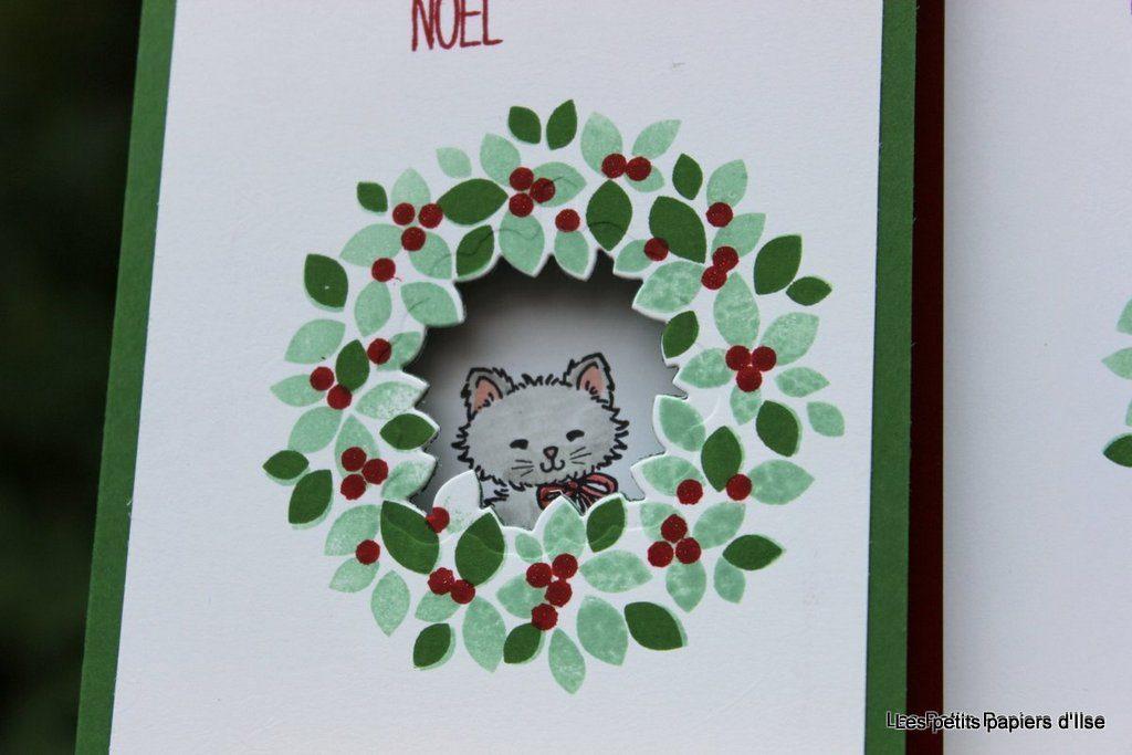 Détail de la carte petit chat couronné