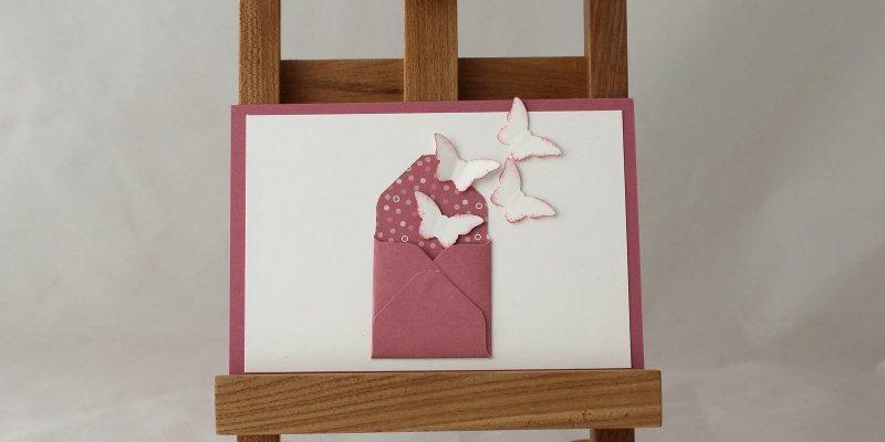 Photo de la carte invitation papillons