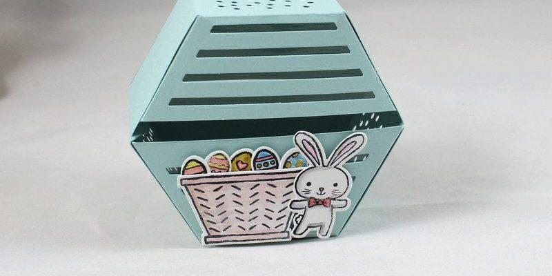 Photo de la boite hexagonale petit lapin