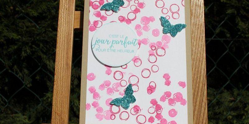 Photo de la carte bulles et papillons