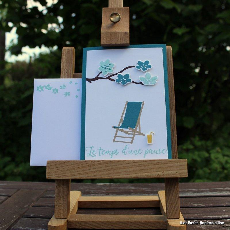 Photo de la carte blog hop des stampin girls