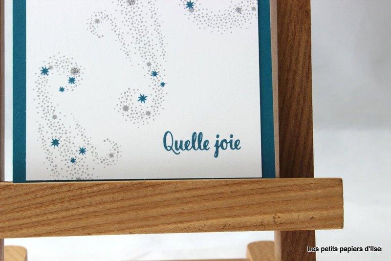 Photo de la carte d'invitation étoilée