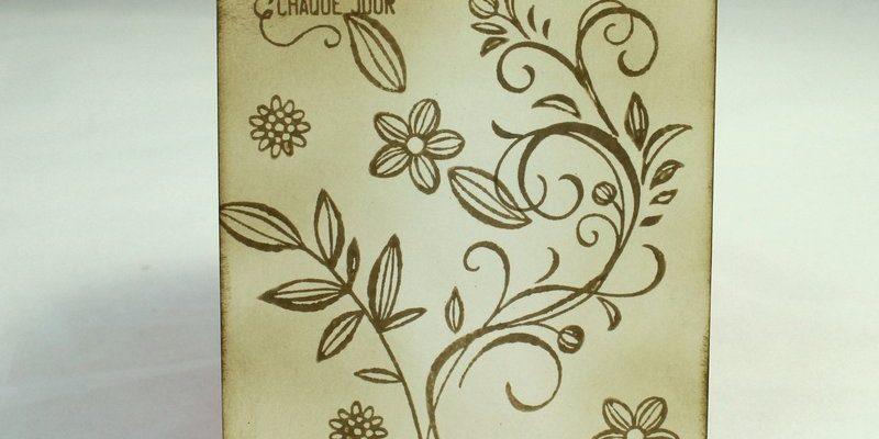 Photo de l'invitation florale sépia