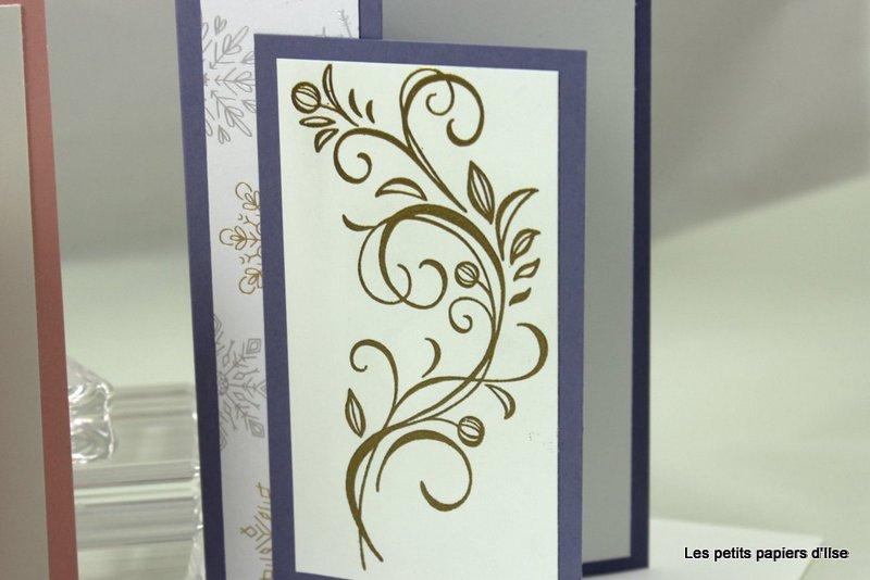 Détail des cartes de voeux fleurs d'hiver