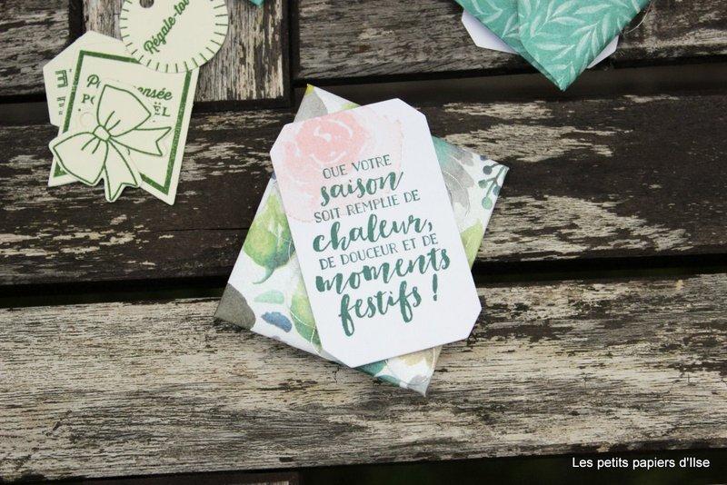 Photo des mini enveloppes givrées