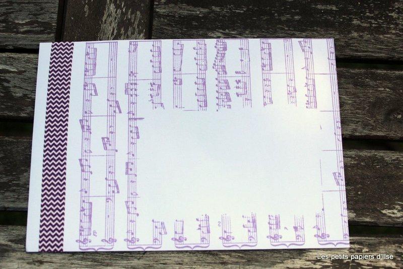 Photo de l'enveloppe partition deux tons