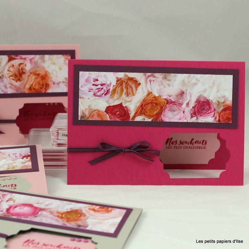 Photo des cartes simples bal fleuri