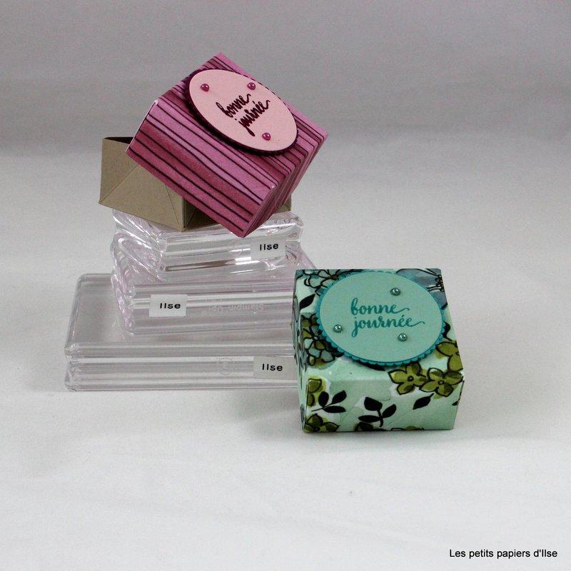 Photo de la mini boite à ranger à plat