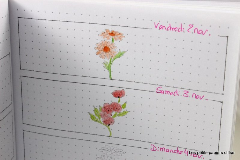 Photo de mon bullet journal avec Stampin'Up!