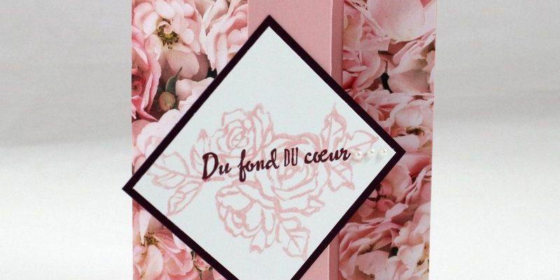 Photo de la carte bal fleuri avec pliage