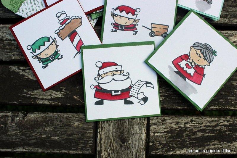 Photo des cartes à bonheurs du père noël