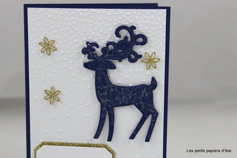 Photo de la carte renne fringant et scintillant