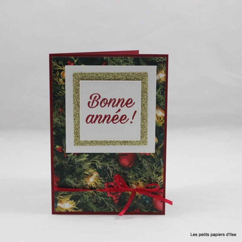 Photo de la carte simple de bonne année