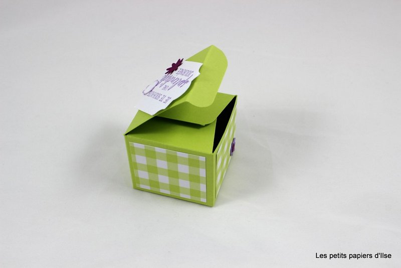 Photo de la mini boite vichy fleurie