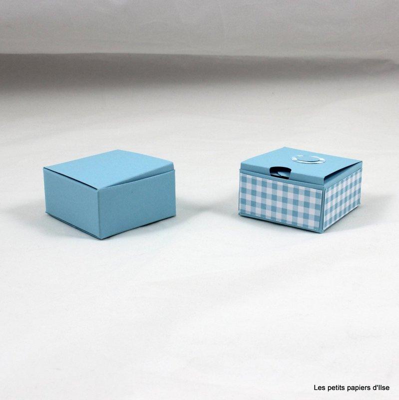 Photo de la mini boite à décorations vichy