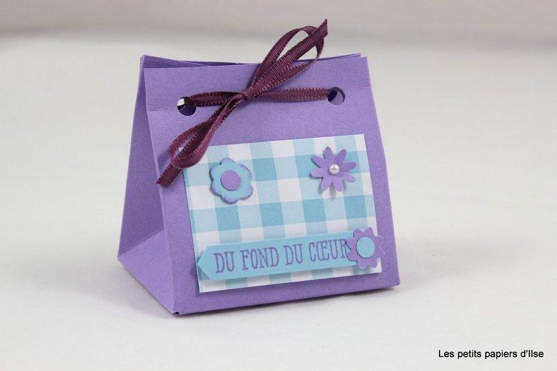 Photo du mini sac vichy fleuri