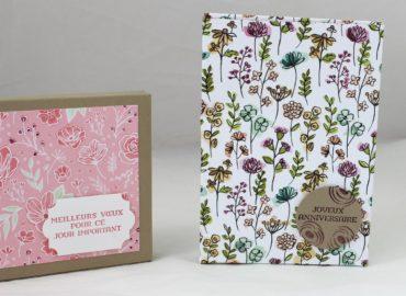 Photo de la boite à cartes et enveloppes maison