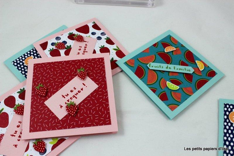 Photo des cartes à petits bonheurs fruités