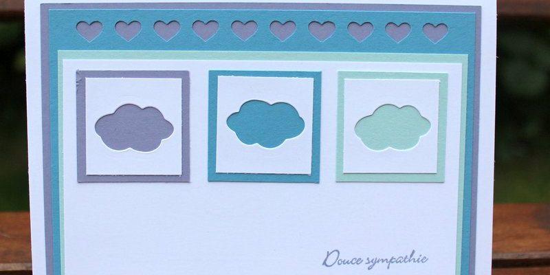 Photo de la carte aux nuages colorés