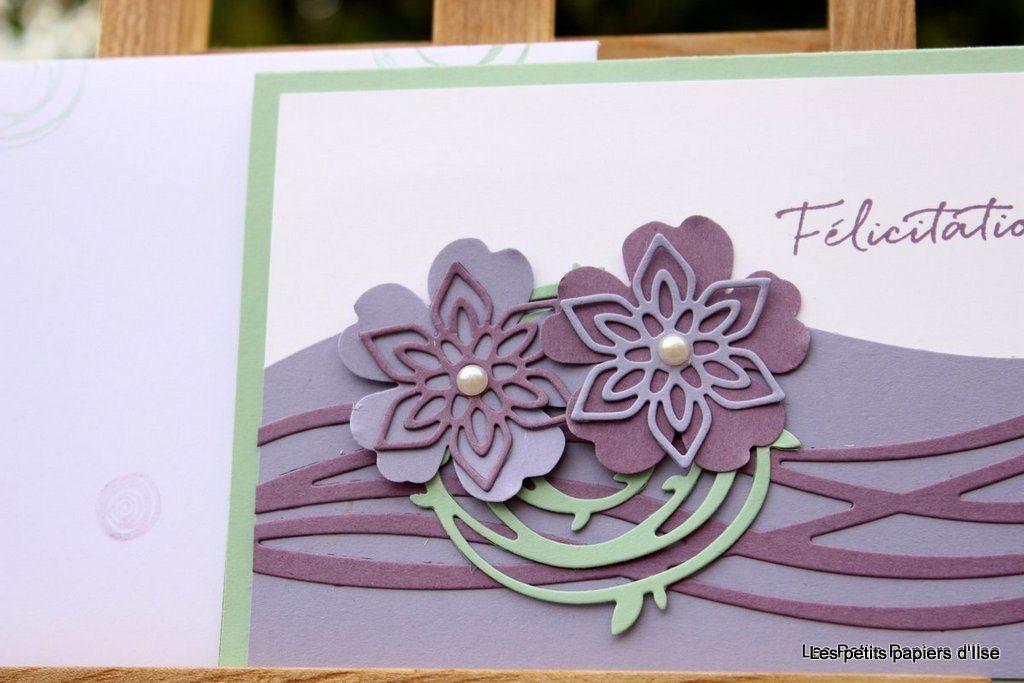 Détail de la carte félicitations florales
