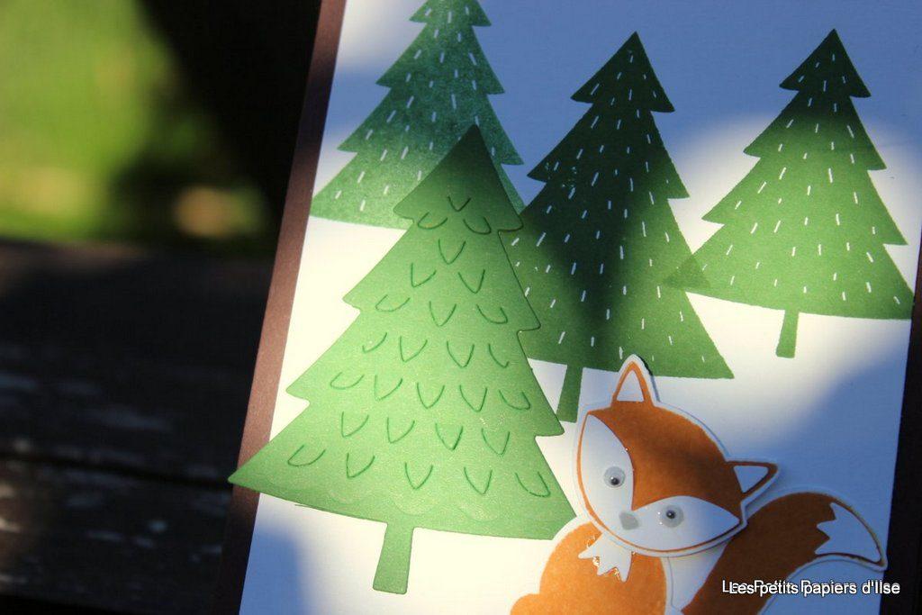 Détail de la carte renard et forêt