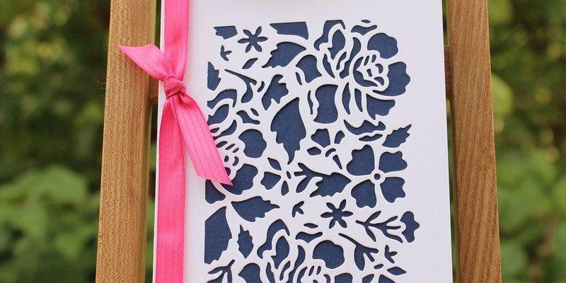 Photo de la carte couverture de fleurs ouvragées