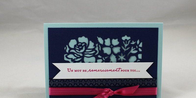 Photo de la carte de remerciements fleurie