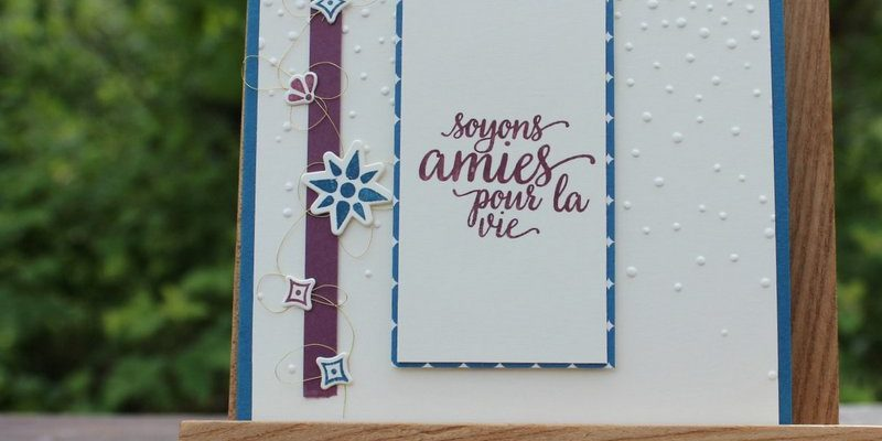 Photo du blog-hop des stampin girls d'avril