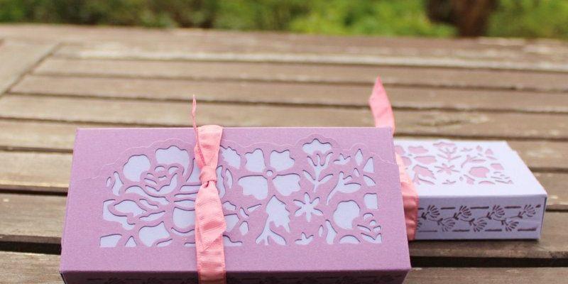Photo de la boite fleurs ouvragées