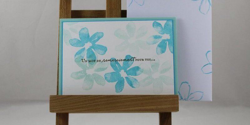 Photo de la carte camaieu fleuri