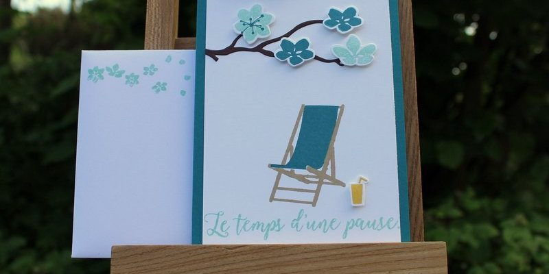 Photo de la carte blog hop des stampin girls