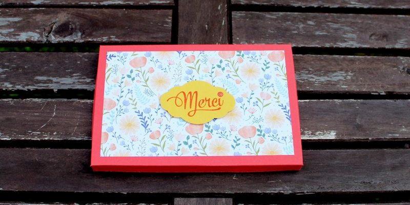 Photo de la boite cadeau pour les professeurs