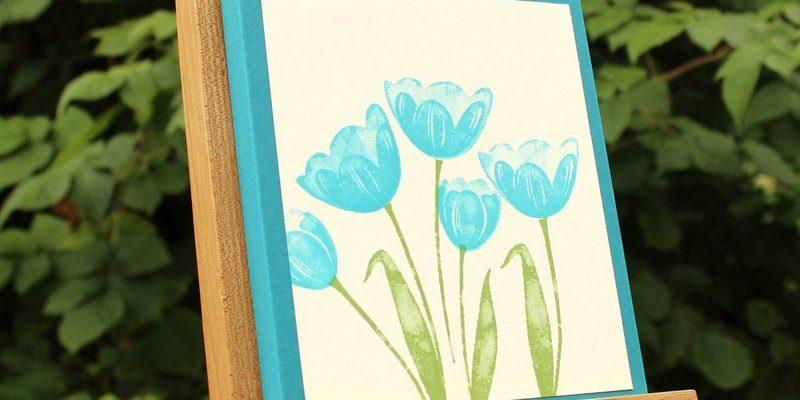 Boite tulipe et indigo