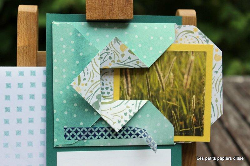 Photo de la carte de vacances origami