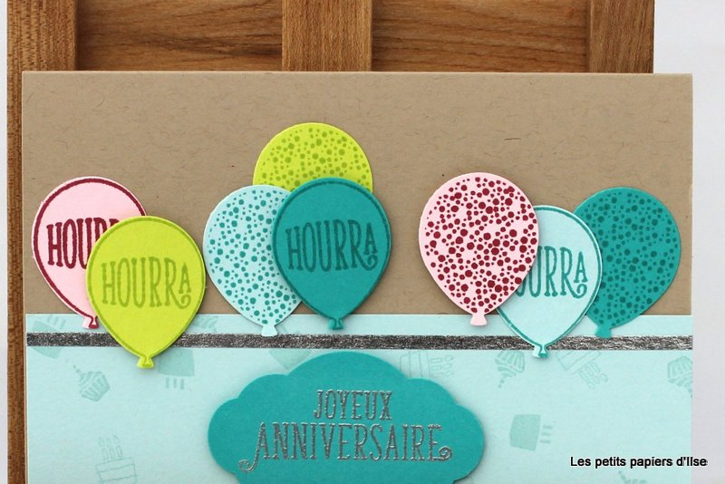 Photo de la carte anniversaires ballons acidulés