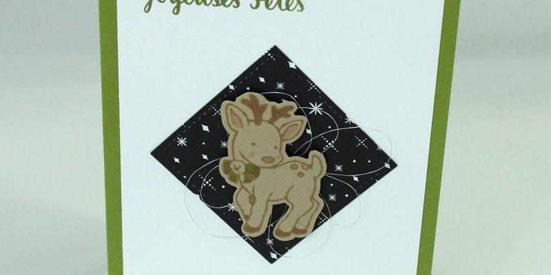 Photo de la carte au renne joyeuses fêtes