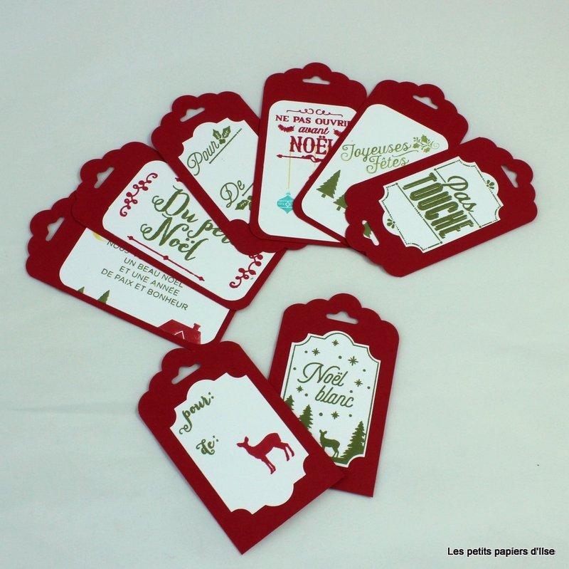 Photo des étiquettes cadeaux de noël