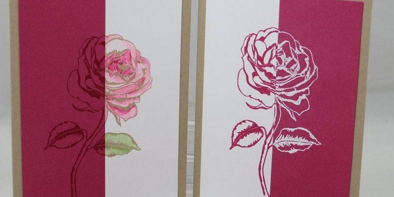 Photo de la carte bicolore avec le stamparatus