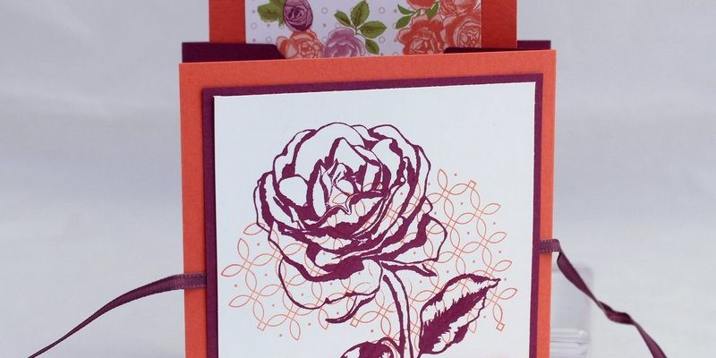 Photo du mini-album à la rose