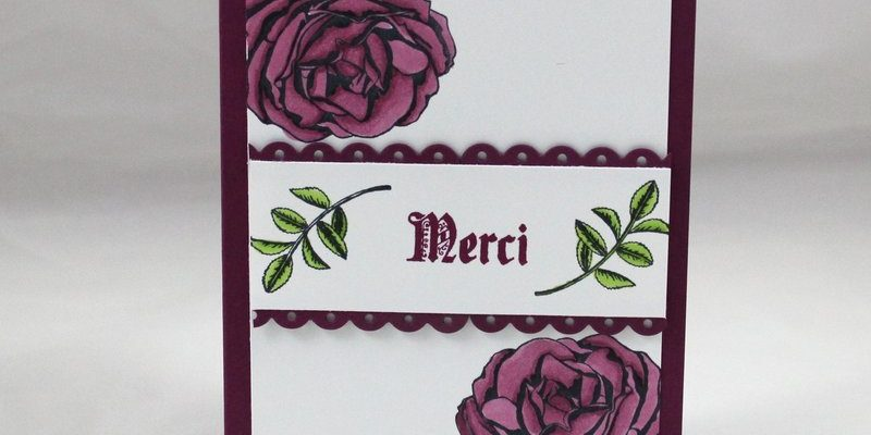 Photo de la carte merci roses aux blends