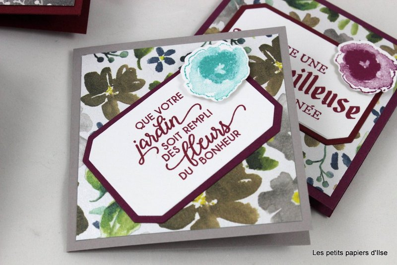 Photo des cartes à bonheurs fleurs glacées