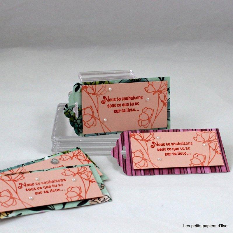 Photo des étiquettes cadeaux sur ta liste