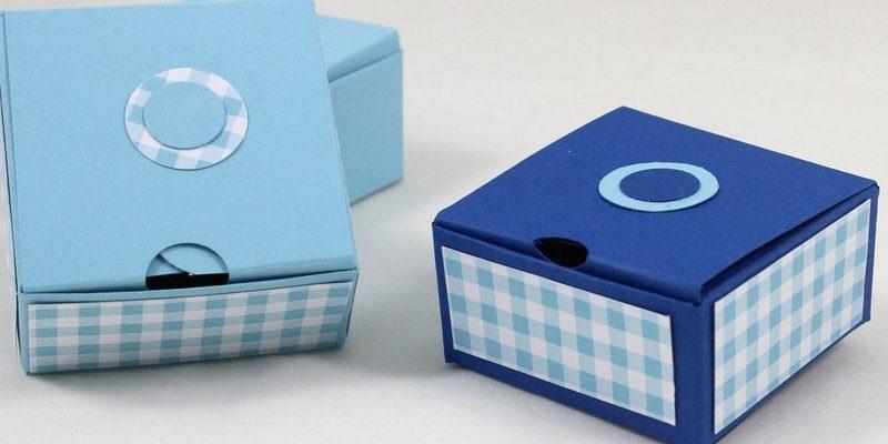 Photo des mini boites vichy avec l'insta pochette