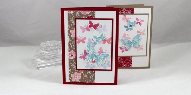 Photo de la carte à la nuée de papillons