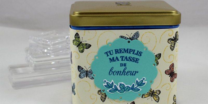 Photo de la boite à thé décorée