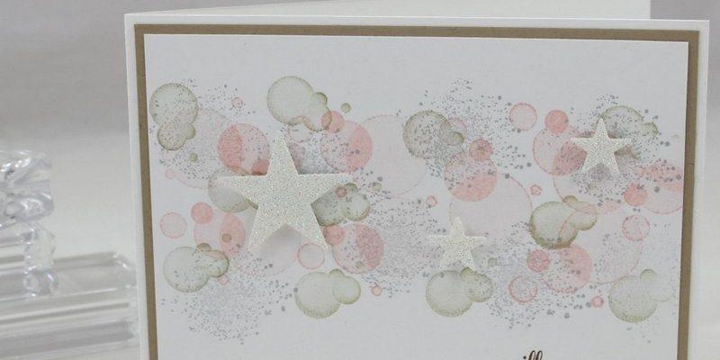 Photo de la carte de voeux aux étoiles douces