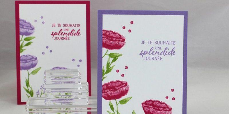 Photo des cartes aux fleurs incroyables
