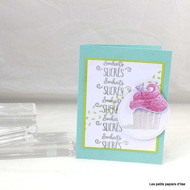 Photo de la carte au cupcake d'anniversaire