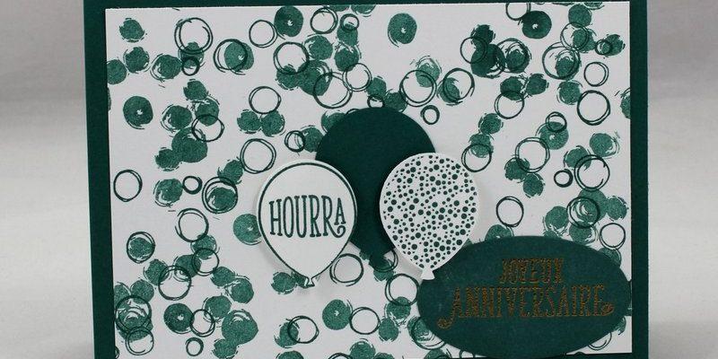 Photo de la carte d'anniversaire bulles et ballons